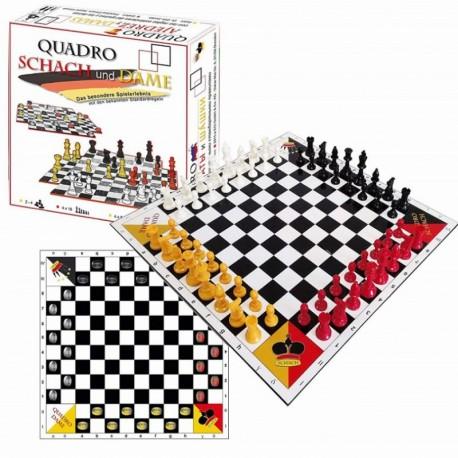 Jeu d'échecs et dames 4 joueurs Quadro chess