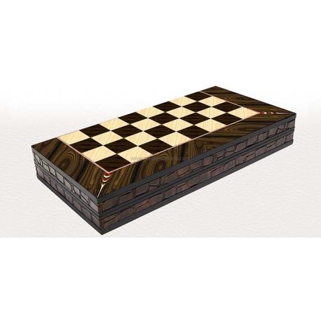 Backgammon Luxe Noyer XXL