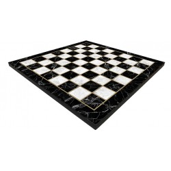 Plateau Echecs XL motif Marbre Noir