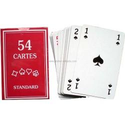 Jeu 54 cartes standard