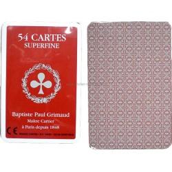 Jeu 54 cartes Grimaud Bridge Superfine