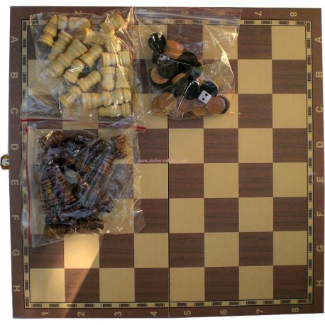 Set Echecs Dames Backgammon Eco